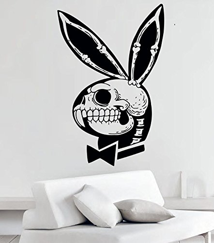 Greate Decal Funny Playboy Bunny Skull Vinyl Wall Decals Stickers Decor Murals MK1533
