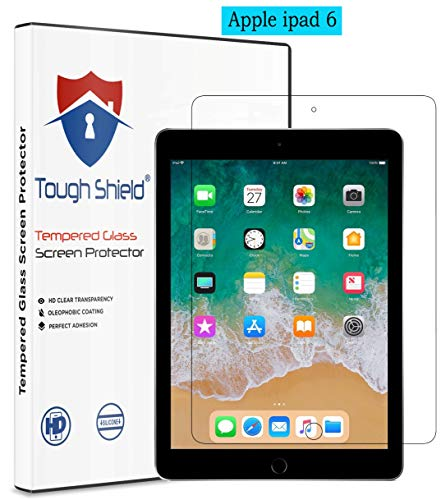 TOUGH SHIELD® 0.3 mm 9H Flexible Gorilla Guard Tempered Glass Screen Protector Shield for Apple iPad 6 (6th Generation) 9.7 Inch Screen Size (Pack of 1)