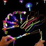 Amazing Led Light Arrow Rocket Helicopter Flying Toy Party Fun Gift Elastic (15 PCS)