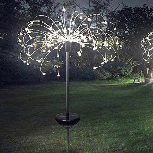 WE-WIN 120 LED Solarbetriebenes Feuerwerk Starburst Garden Outdoor Stake Light