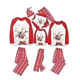 2021 Pijamas de Navidad Familia Conjunto Pantalon y Top Pijamas Mujer Hombre Impresión a cuadros Inv...