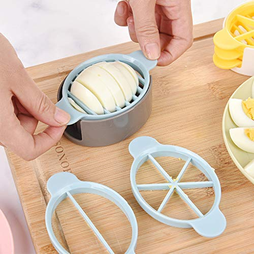 Gaddrt Eierteiler Eierschneider Küche 3 in 1 Kochen Werkzeuge Schneiden Multifunktions Eierschneider Schneider Form Blume Kanten Werkzeuge