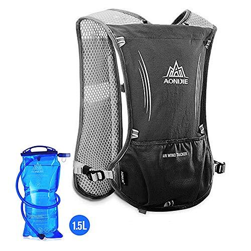 AONIJIE Hydration Pack Rucksack Marathoner, Laufen, Rennen, Trinkrucksack mit Trinkrucksack, blau, no Bladder - 3