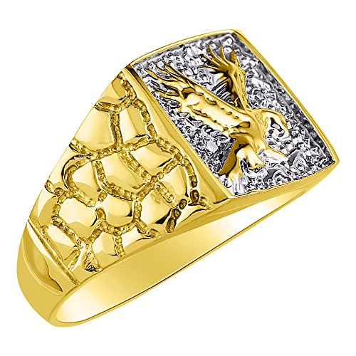 Anillo de plata de ley o chapado en oro amarillo para hombre