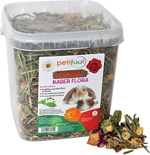 """dobar petifool Alleinfutter """"Nager Flora"""", natürliches und gesundes Kaninchenfutter, 430g, 2er Pack (2 x 430 g)"""