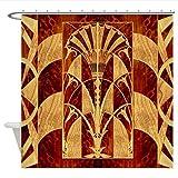 WUXEGHK Duschvorhang,Harvest Moon Art Deco Panel Dekorative Stoff Duschvorhang 180X130Cm