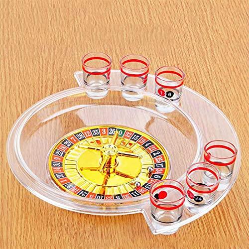 Juego de ruleta para beber, tocadiscos de la suerte transparente de seis hoyos, mesa de vino, divertido juego de ruleta, entretenimiento para fiestas familiares, juego para beber, juego de bar KTV