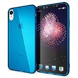 NALIA Custodia compatibile con iPhone XR, Ultra-Slim Case Protettiva Cover Trasparente Morbido Cellulare Silicone Gel Gomma Telefono Bumper Sottile Protezione, Colore:Blu
