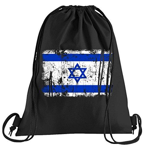 T-Shirt People Israel Vintage Flagge Fahne Sportbeutel – bedruckter Beutel – eine schöne Sport-Tasche Beutel mit Kordeln