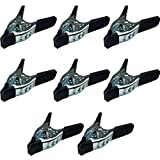Lot of 8-6' inch Spring Clamp Large Super Heavy Duty Spring Metal Black - 3 inch Jaw Opening