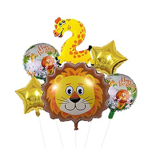 XIAOZSM Globos Lion Head Globos Set Animal Número de Diapositivas Globos Cumpleaños Cumpleaños Fiesta de cumpleaños Decoraciones Baby Shower ( Farbe : 2 )
