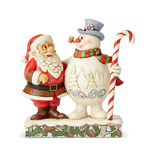 Enesco Frosty the Snowman by Jim Shore Santa and Frosty with Candy...