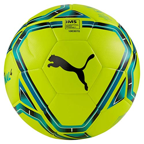 PUMA Unisex– Erwachsene teamFINAL 21.4 IMS Hybrid Ball Fußball, Lemon Tonic-Spectra Green-Ocean Depths Black, 5