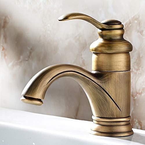 Válvula mezcladora Europea baño de la antigüedad del grifo de lavabo de colada caliente fría baño de bronce agua del grifo de la vendimia Ollas Aerosol fregadero hotel Balcón Bar WC lavabo de mezclado