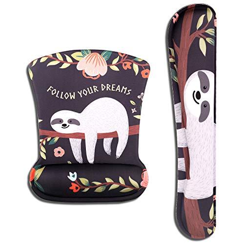 AOKSUNOVA Ergonomisch Mauspad mit Gelkissen Mouse pad & Tastatur Handgelenkstütze Handgelenkauflage Handauflage