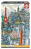Educa Borras - Serie Citypuzzle, Puzzle 200 piezas,París (18471)