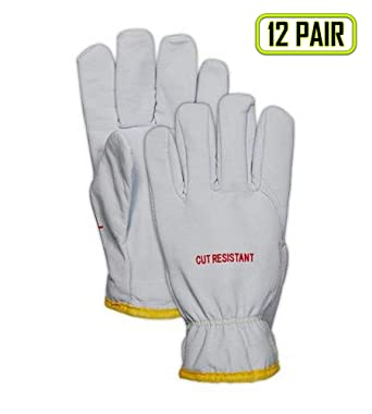 Wells Lamont  M  Goatskin Leather  Driver  Pearl Gray  Gloves