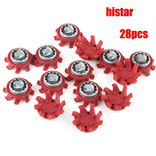 Histar - Golf Spikes in Red + Silver