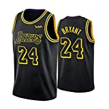 Kobe Bryant Black Mamba Basketball Jerseys para Hombre, Los Angeles Lakers # 24 Retro Basketball Swingman Edition Mesh Jersey, Swingman Vest (S-XXL)-XXL