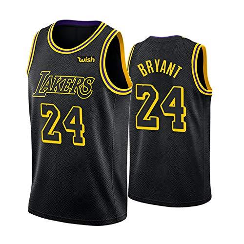 Kobe Bryant Black Mamba Basketball Jerseys para Hombre, Los Angeles Lakers # 24 Retro Basketball Swingman Edition Mesh Jersey, Swingman Vest (S-XXL)-L