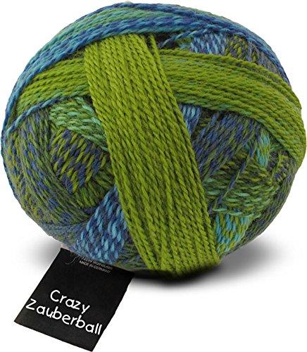 Schoppel Wolle Zauberball Crazy Fb. 2136 Der Lenz ist da, Bunte Sockenwolle musterbildend mit Farbverlauf zum Stricken oder Häkeln