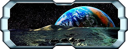 Thorpe Signs Sticker mural pour chambre d'enfant Motif planète et étoiles Taille XL 150 x 57 cm