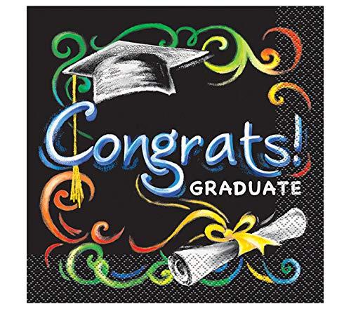 Chalkboard Graduation Party Napkins, 16ct