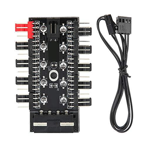 Concentrador de ventilador de chasis de PC, regulador de temperatura de computadora, concentrador de enfriamiento de CPU de 4 pines, ventilador de chasis de ventilador, controlador de velocidad(4D)