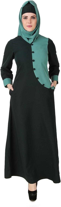 MyBatua Dark & Light Green Kashibo Muslim Casual & Formal Wear Burqa Abaya AY501