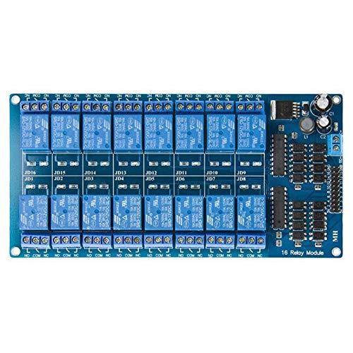 Hyzb 12V 16-Kanal-Relais-Modul-Brett mit Optokoppler Schutz LM2576 Strom PIC AVR MCU DSP ARM (Size : S)