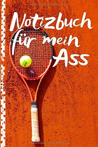 Notizbuch für mein Ass: Tennisspieler notieren gerne Ihre Strategien, Für die Notizen und Bilder deines Tages, Notizheft im coolen Design, Punkteraster, 120 Seiten,