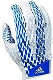 adidas Adizero 4.0 Adult Football Receiver's Gloves, White/Royal, Small