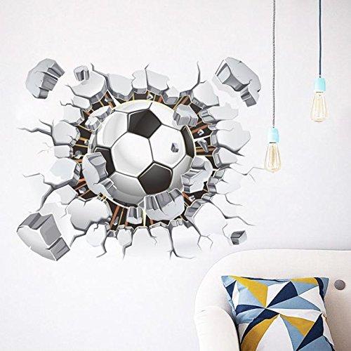 Topgrowth Adesivo da Parete 3D Calcio Soggiorno Camera da Letto Sfondo Wall Sticker