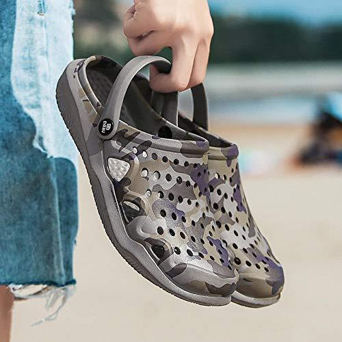 comodi sandali da esterno Zoccolo,Coppia zoccoli scarpe da passeggio da spiaggia,sandali slider da donna per donna da donna,pantofole da uomo,pantofole da casa antiscivolo,infradito in plastica-grig