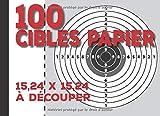 100 Cibles papier à découper: v1-1 cible de tir airsoft de 15,84 cm x 15,84 cm pour airsoft air comprimé petit calibre tir sportif   cible de tir airsoft
