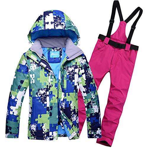 ZMXZMQ Ski Suit, Kleurrijk Snowboard Jas En Bib Pant Suit, Waterdicht Winddicht