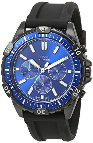 Fossil Garrett Chronograph Watch Fs5695 Black Black Silicone One Size