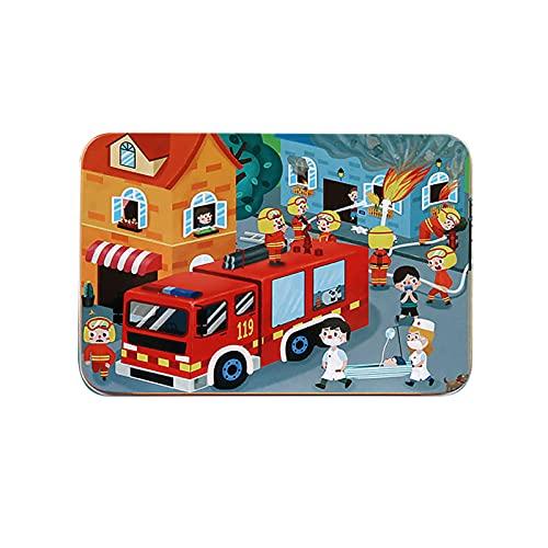 ZJJX 100 piezas de madera minirompecabezas, juguetes educativos para bebés y niños