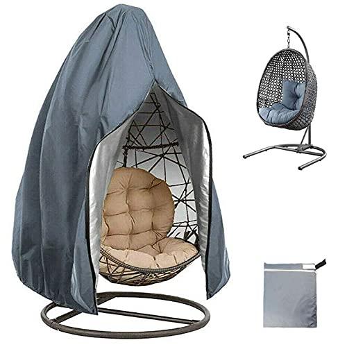 BSJZ Patio Hanging Egg Chair Cover, Wicker Swing Chair Covers, 210D Oxford Wasserdichtes winddichtes Anti-UV für Outdoor Egg Swing Chair mit Reißverschluss