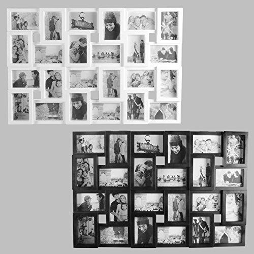 24 Fotos Bilderrahmen Fotorahmen Fotocollage Collage Fotogalerie Bildergalerie (Weiß)