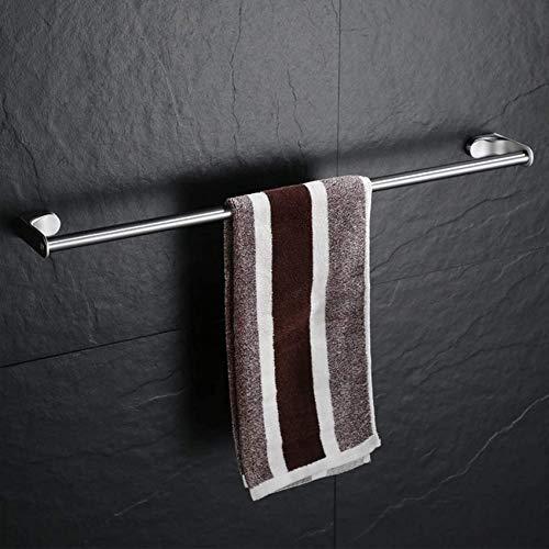 MUZILIZIYU La Barra de Toalla de Acero Inoxidable Sus 304, un riel de Toalla de baño, un Acabado Cepillado de una Varilla Simple no se ha óxido de Toallas, un 40 cm Color : A, Size : 50cm(20inch)