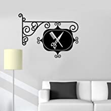 rylryl Etiqueta de la pared Vinyl Decal Sign Barbería Peluquería Estilista Peluquería Etiqueta de la puerta Habitación Tienda Decoración Vinilos extraíble 36x57cm