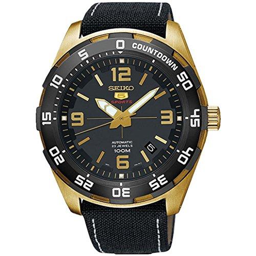Seiko Herren Analog Automatik Uhr mit Stoff Armband SRPB86K1