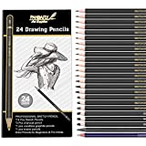Best Charcoal Pencils - Professional Drawing Sketching Pencil Set - 24 Pieces Review