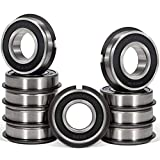 10 Pcs 99502HNR Ball Bearing (ID 5/8' x OD 1-3/8' x Width 7/16') Rubber Sealed Deep Groove Bearing with Snap Ring for Lawn Mower, Go Karts, Mini Bikes, etc