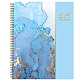 2021-2022 Monthly Planner - 18-Month Planner with Tabs & Pocket, Contacts and Passwords, 9' x 11', Thick Paper, Jan. 2021 - Jun. 2022, Twin-Wire Binding - Gilding by Artfan