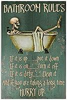 金属看板30 * 40cmトイレバスルームトイレ金属絵画クリスマスハロウィーン女性男性誕生日プレゼント壁飾りポスター(2-i-55)
