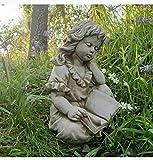 Statue de fille liseuse | Pierre reconstituée classique en béton