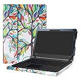 Alapmk Diseñado Especialmente La Funda Protectora de Cuero de PU para 11.6' Lenovo Flex 11 CHROMEBOOK/Lenovo N23 Yoga Chromebook/Lenovo Flex 4 11 4-1130 Series Ordenador portátil,Love Tree