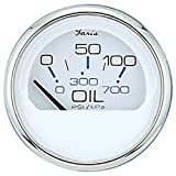 Faria 13802 Chesapeake Stainless Steel Oil Pressure Gauge (80 PSI) - 2', White